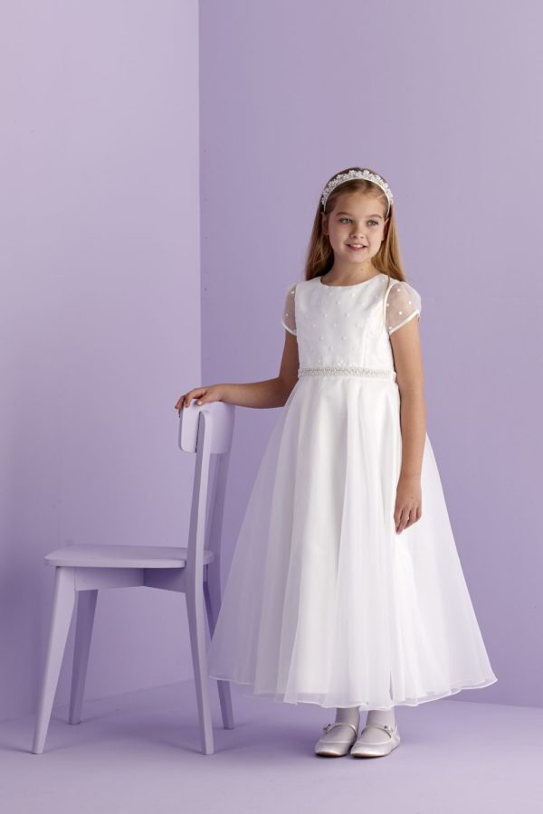 First Holy Communion Spot Organza Dress