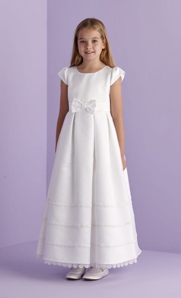 First Holy Communion Bow Dress