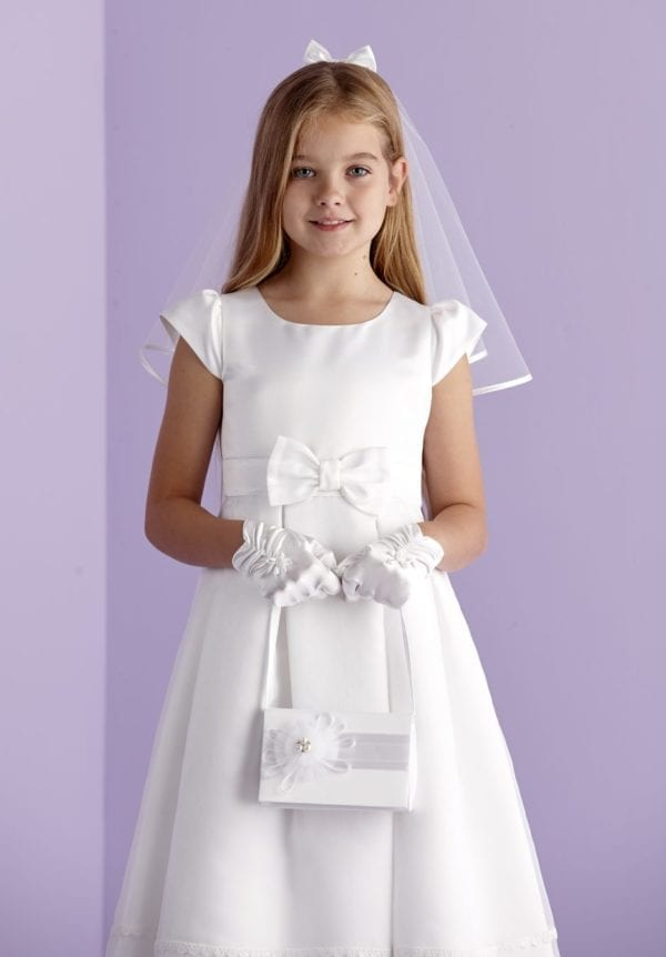 First Holy Communion Satin Bow Accessory Set