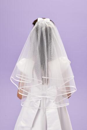 Jacklyn Communion Veil Back